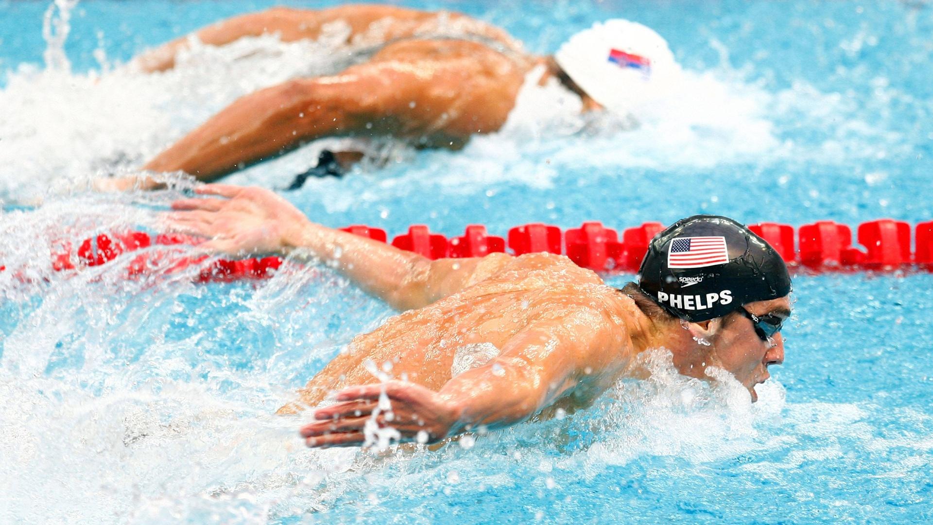Michael Phelps Swimming