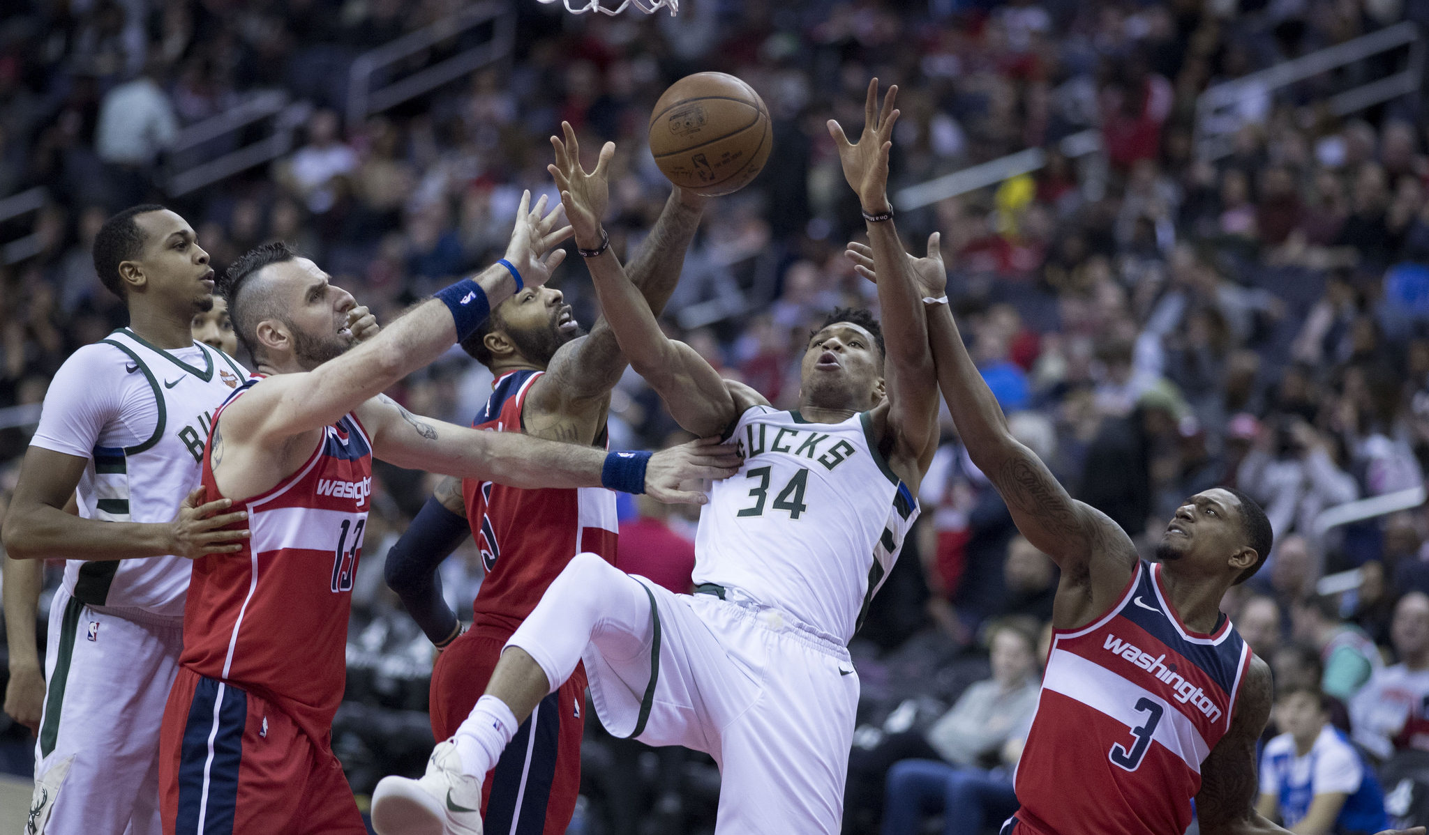 Giannis Antetokounmpo vs Washington Wizards